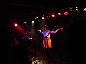 Soko (singer) - Soko performing at Loppen in Copenhagen, Denmark.