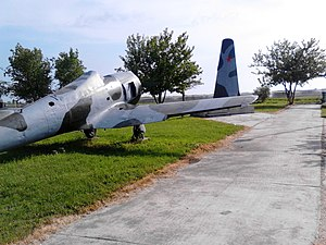 96th Fighter-Bomber Aviation Regiment - A Ilyushin Il-2 converted into monument to 423rd Assault Aviation Regiment in village Gospođinci.