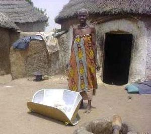 Indoor air pollution in developing nations -  Solar cookers use sunlight as energy source for outdoor cooking.