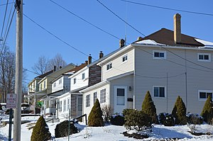 Scalp Level, Pennsylvania - Houses on Somerset Street