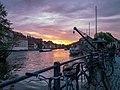 Sonnenuntergang am alten Kranen.jpg