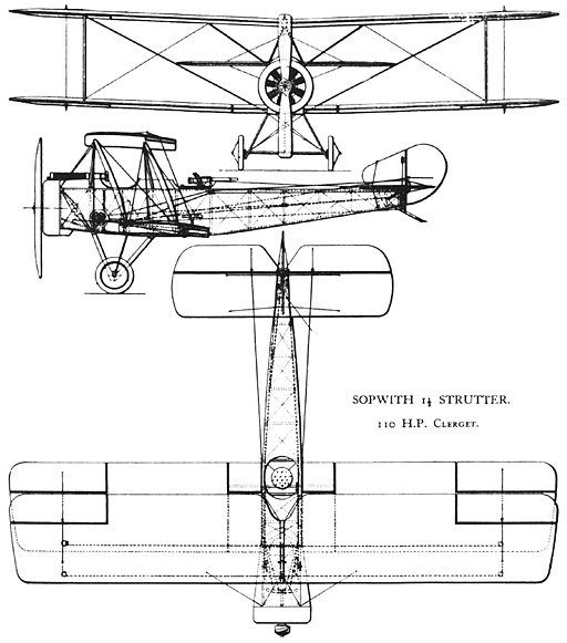 Sopwith 1½ Strutter drawing