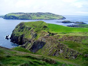 Isle of Man - The Calf of Man seen from Cregneash