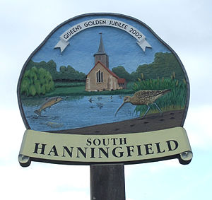 South Hanningfield - Image: South hanningfield sign