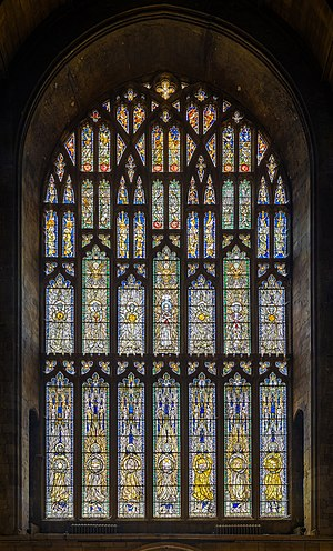 West window of Southwell Minster, England.