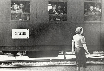 A train with Romanian refugees following the Soviet annexation of Bessarabia Soviet occupation of Bessarabia and Northern Bukovina 03.jpg