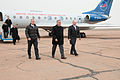 Soyuz TMA-12M crew at the airport in Baikonur.jpg