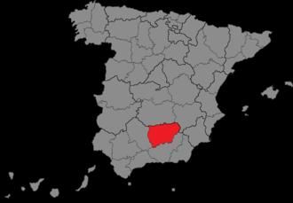 Jaén (Congress of Deputies constituency) - Location of Jaén within Spain