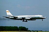 Spantax CV-990 at Basle - June 1976.jpg