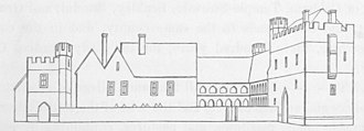 College of All Saints, Maidstone - Speculative reconstruction of the original appearance