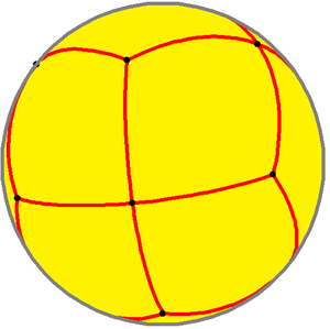 Rhombic dodecahedron - Spherical rhombic dodecahedron