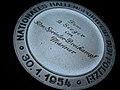 Sportvereinigung Polizei Hamburg Silbermedaille Nationales Hallensportfest 30. Januar 1954 2 Sieger im 50 Meter Sprinterdreikampf der Männer Rückseite.jpg