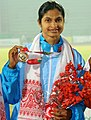 Srabani Nanda of India won Gold Medal in Women's 200m Run in Athletics, at the 12th South Asian Games-2016, in Guwahati on February 11, 2016.jpg