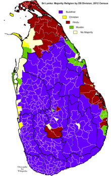 Religion In Sri Lanka Wikipedia - World religion map wikipedia
