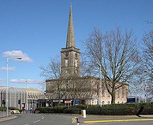 St John's Church, Wolverhampton - St. George's Church as part of a Sainsbury's supermarket. It now lies empty.