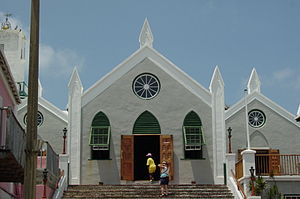 Saint Peter's Church, in St. George's, Bermuda...