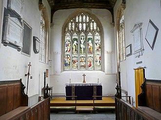 Lozenge (heraldry) - Image: St Andrew's Church, High Ham 2