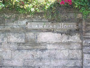 Llambias House - Image: St Aug NHL Llambias sign 01