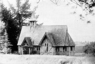 Frederick Thatcher - The Chapel of St John the Evangelist, Auckland, ca 1900