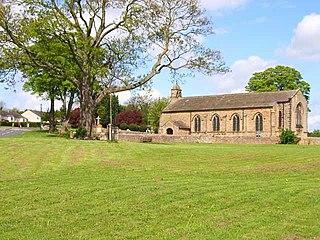 Hipswell village in United Kingdom