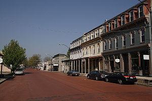 St Louis Street, Lebanon, Illinois