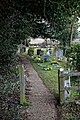 St Peter's Church, Shelley, Essex - churchyard path.jpg