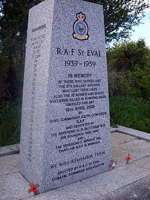 RAF St Eval - RAF St Eval memorial