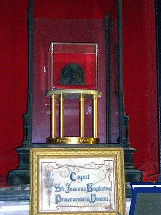Mark 6 - Supposed head of John the Baptist, enshrined in Rome