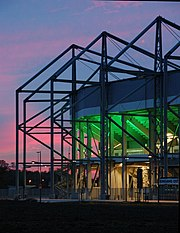 Stadion im Borussia-Park by night
