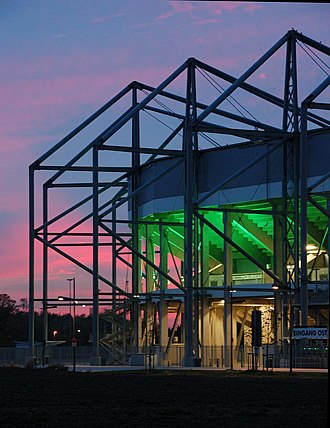 Borussia-Park - Image: Stadion im Borussia Park by night