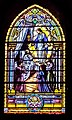 Stained glass window of the Collegiate Church of Our Lady of Quezac 03.jpg
