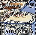 Stamp of Albania - 2000 - Colnect 186671 - Early Christian Fountain Mosaic 5th cent Shëngjin.jpeg