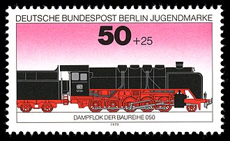 DRB Class 50 - 1975 stamps of the Class 50 with Wagner smoke deflectors