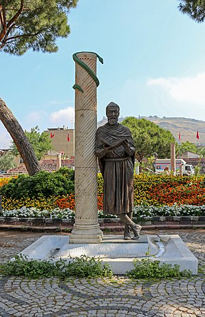 Bergama - Statue of Galen in Bergama