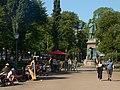 Statue of Johan Ludvig Runeberg on Esplanadi in Helsinki, Finland.jpg