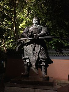 Statue of Qian Liu in Hangzhou.jpg