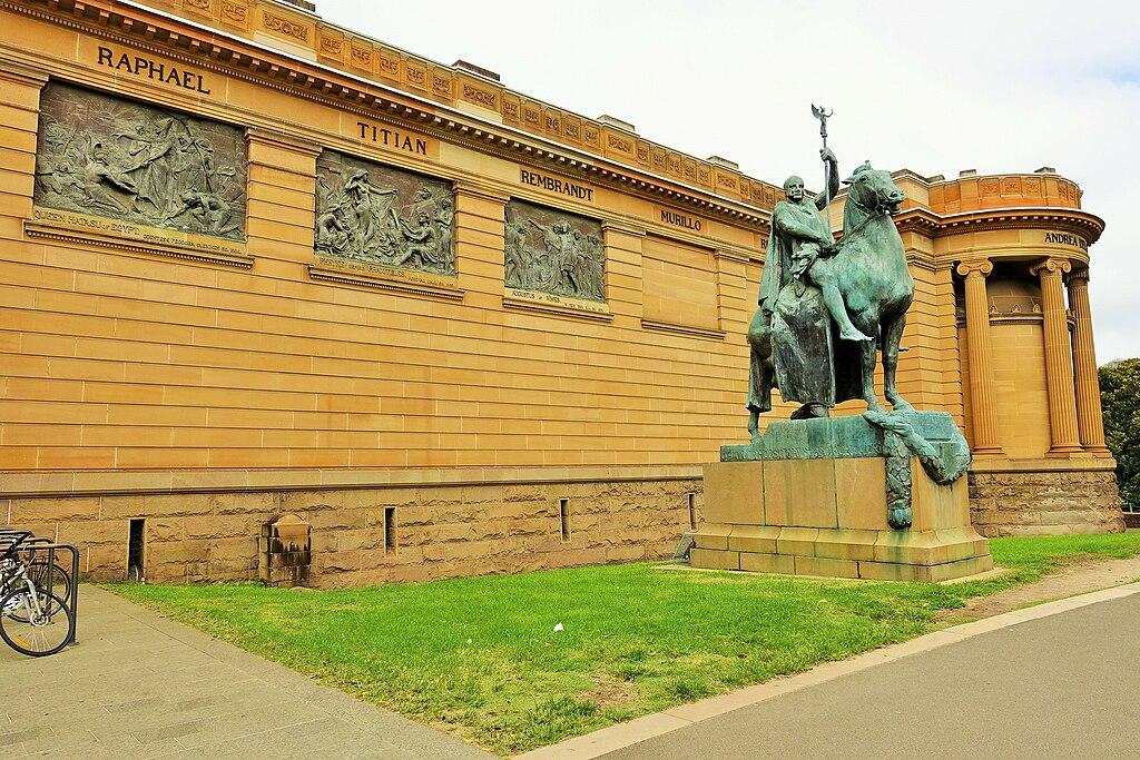 Statue outside Art Gallery of NSW