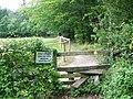 Stay on the path near Cadnam - geograph.org.uk - 1432189.jpg