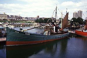 Drifter (fishing boat) - The Lydia Eva is the last surviving steam drifter of the herring fishing fleet based in Great Yarmouth