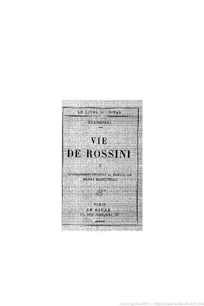 File:Stendhal - Vie de Rossini, II, 1929, éd. Martineau.djvu