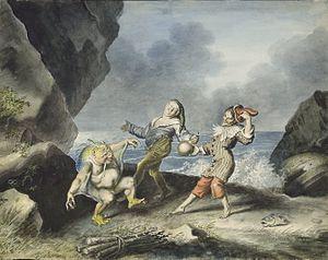 Caliban - Caliban, Stephano and Trinculo dancing