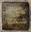Stolperstein Am Eichenhain 37 (Frohn) Heinz Hornik2012.jpg
