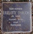 Stolperstein Arnstadt Thomas-Mann-Straße 15-Lieselotte Ehrlich.JPG