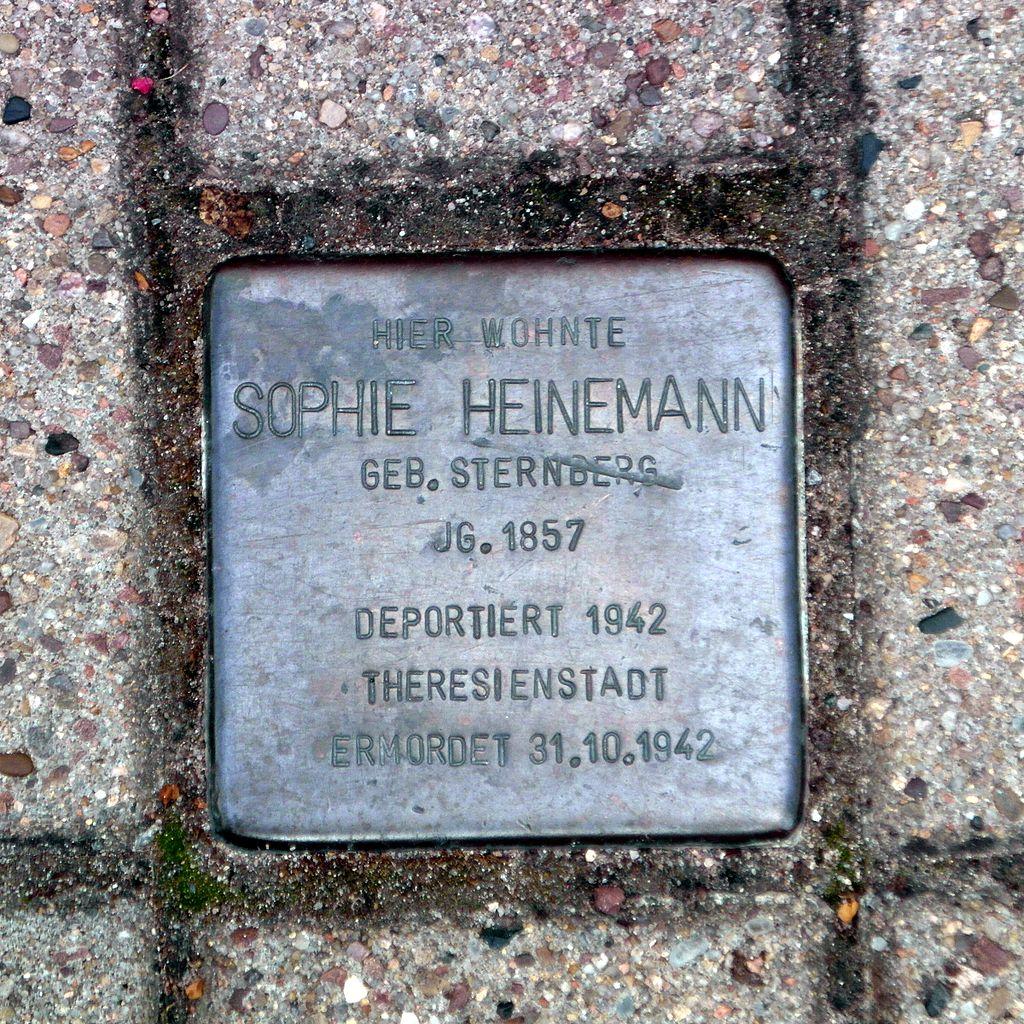 Stolperstein Sophie Heinemann
