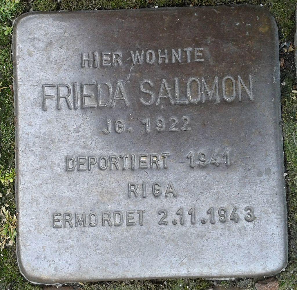 Stolperstein Drensteinfurt Hammer Straße Frieda Salomon