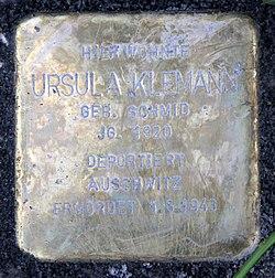 Photo of Ursula Klemann brass plaque