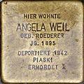 Stolperstein Salzburg, Angela Weil (Nonntaler Hauptstraße 1).jpg
