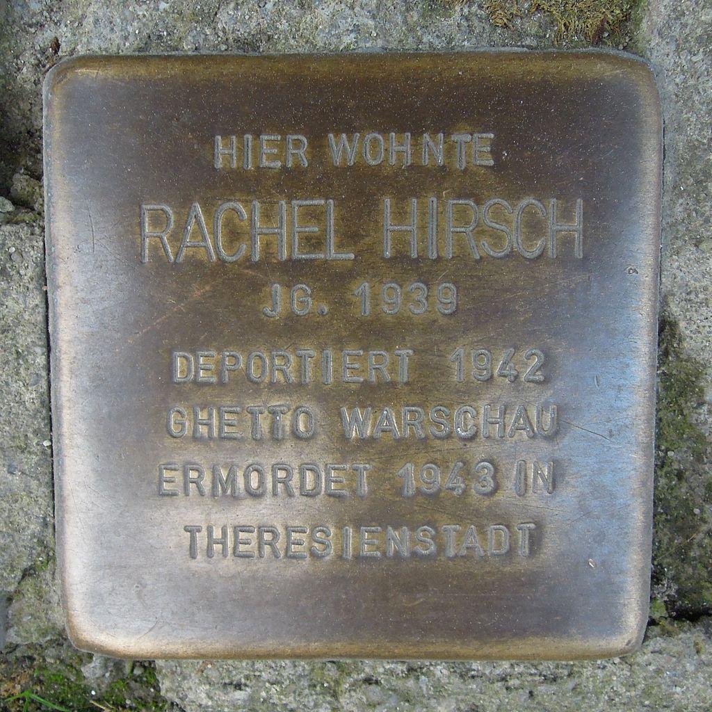 Stolperstein Salzwedel Burgstraße 59 Rachel Hirsch