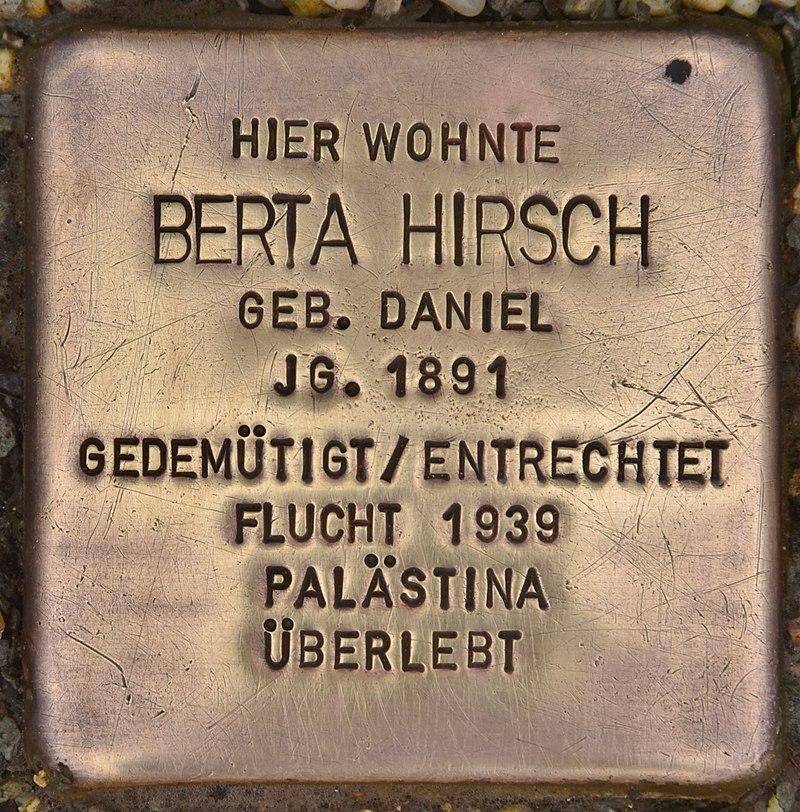 Stolperstein für Berta Hirsch (Coburg).jpg