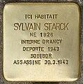 Stolperstein für Sylvain Starck (Fontenay-sous-Bois).jpg
